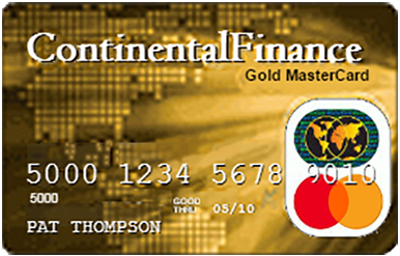 continental finance gold card